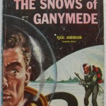 1950s Snows Of Ganymede SCI FI Paperback Book Pulp Novel POUL ANDERSON Vintage Illustration