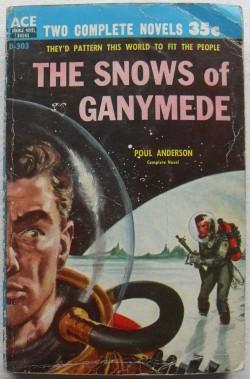 1950s Snows Of Ganymede SCI FI Paperback Book Pulp Novel POUL ANDERSON Vintage Illustration